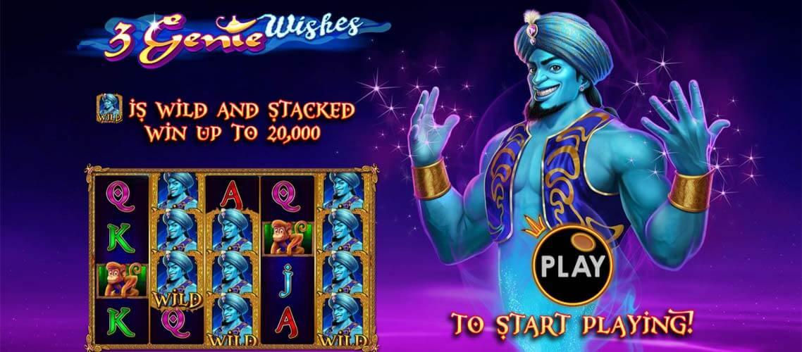 3 Genie Wishes slot : Free Spins/ OneStopBet