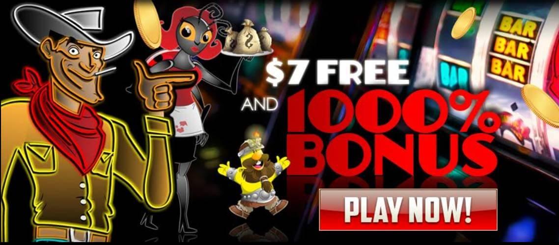 Enjoy $7 Free plus 1000% Welcome Bonus!