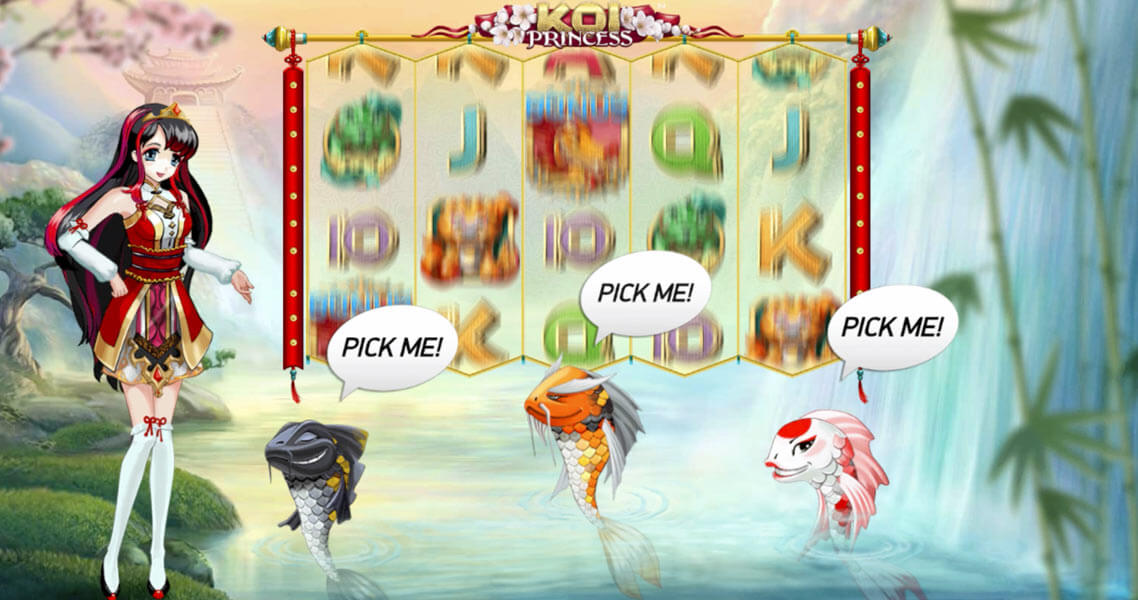 Koi Princess - a new slot with sure win free spins