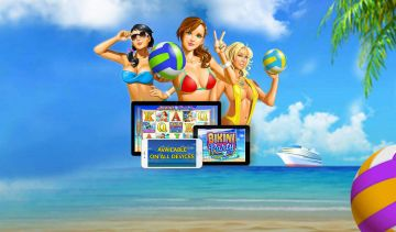 Bikini Party slot features superb Re-Spins & gorgeous beach babes