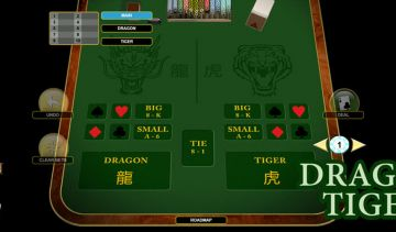 The new Dragon Tiger is a simplified card game based on Baccarat