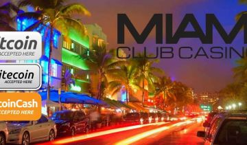 Miami Club Casino has a big winner and accepts BTC, BCH and LTC