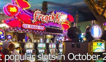 What were the most popular slots by number of spins played in October 2019?