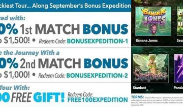 September Bonus Expedition at Sloto'Cash Casino