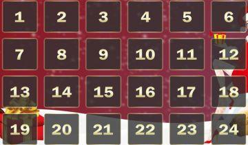 Claim a casino bonus every day this month with the Advent Calendar