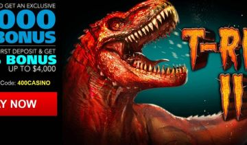 T-Rex II slot 30 bonus spins now available