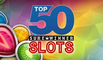 The top 50 slots we have ever reviewed at Surewinner.com