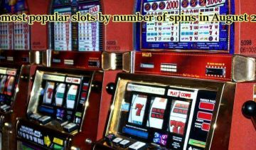 The most popular slots by number of spins in August 2019